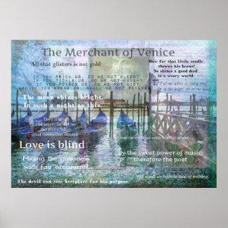 De handelaar van de citaten van Venetië Poster