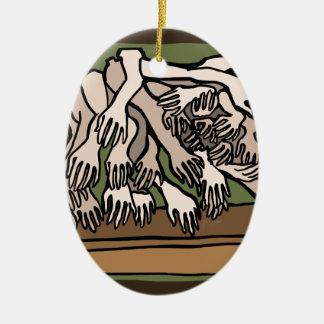De Handen van de ledenpop Keramisch Ovaal Ornament