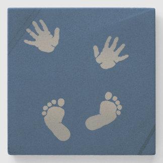 De Handen van het baby en Voeten van het Stenen Onderzetter