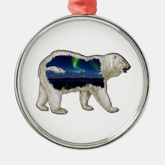 De handlanger zilverkleurig rond ornament