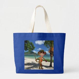 De Handtas van het Strand van de aap Jumbo Draagtas