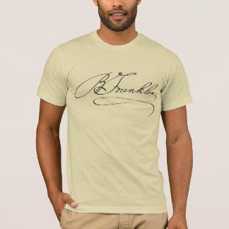 De Handtekening van Franklin van Ben T Shirt