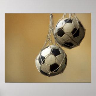 De hangende Ballen van het Voetbal Poster