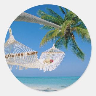 De Hangmat van de Vakantie van het Paradijs van Ronde Sticker