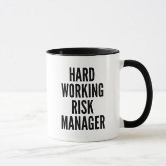 De harde Werkende Manager van het Risico Mok
