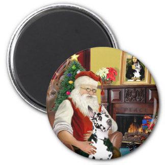 De Harlekijn Great dane van de kerstman Magneet