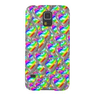 De hart Gevormde Ballons van de Regenboog Galaxy S5 Covers