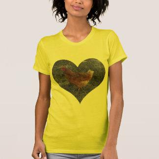 De hart Gevormde T-shirt van de Vrouwen van de Kip