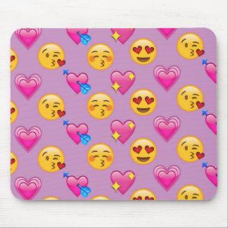 De Harten en Liefde Roze Patternsd van Emoji Muismatten