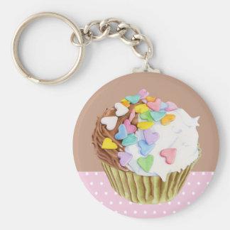 De Harten Keychain van Cupcake Sleutelhanger