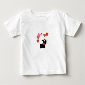 De Harten van de Liefde van de Hond van Scottie Baby T Shirts