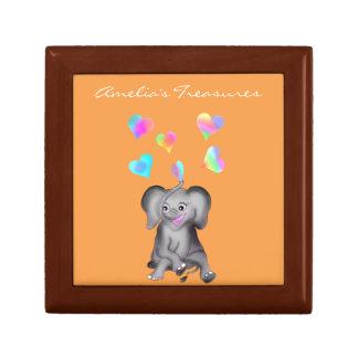 De Harten van de olifant door Happy Juul Company Decoratiedoosje