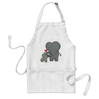 De Harten van de olifant Standaard Schort