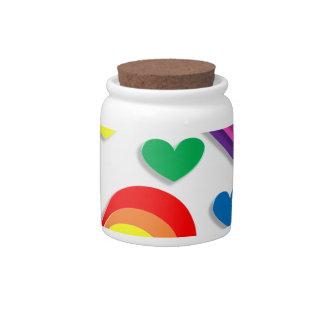 De Harten van de regenboog Porseleinen Snoeppot