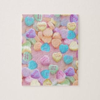 de harten van het valentijnskaartensnoep puzzel