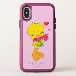 De Harten van Tweety OtterBox Symmetry iPhone X Hoesje