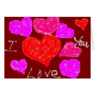 De Harten van Valentijn Kaart