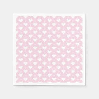 De Harten van Valentijn van de pastelkleur Papieren Servetten