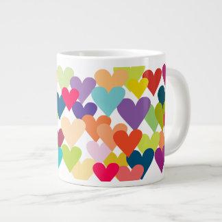 De Harten van Valentijn van de regenboog Grote Koffiekop