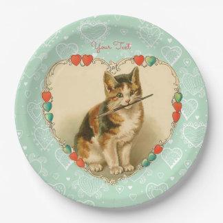 De Harten van Valentijn van het Katje van het Papieren Bordje