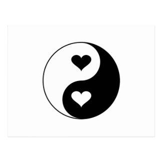 De Harten van Yang van Yin Briefkaart