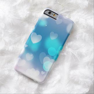 De harteniPhone 6 van Aqua en van de lavendel Barely There iPhone 6 Hoesje