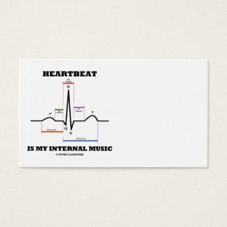 De hartslag is Mijn Interne Muziek (Ritme ECG/EKG) Visitekaartjes
