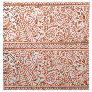 De Hartstocht van Paisley - Sinaasappel (Henna) Katoenen Servet