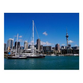 De Haven van Auckland, Nieuw Zeeland - Briefkaart