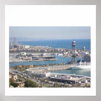 De Haven van Barcelona Poster