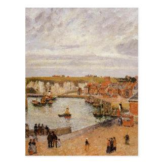 De haven van Dieppe door Camille Pissarro Briefkaart