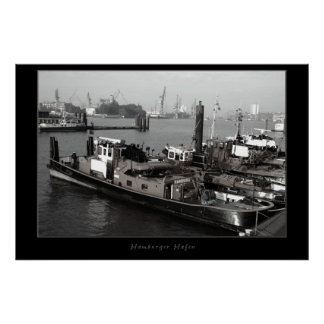 De haven van Hamburg Poster