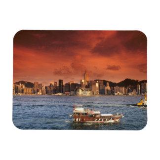De Haven van Hong Kong bij Zonsondergang Magneet