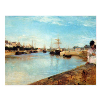De haven van Lorient door Berthe Morisot Briefkaart