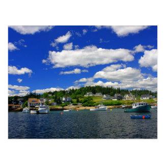 De Haven van Maine in de Zomer Briefkaart