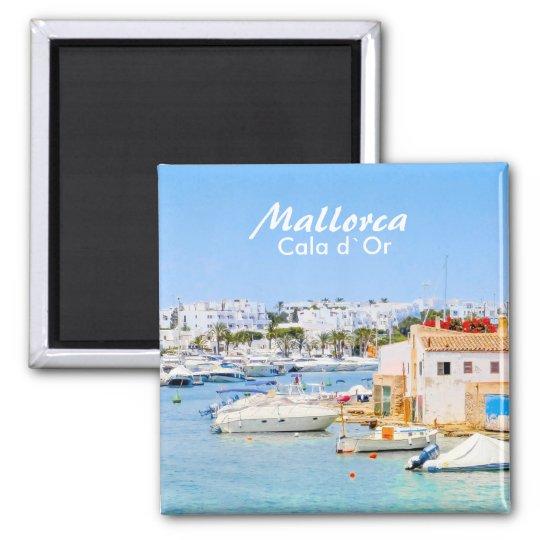 De Haven van Mallorca van Cala D ` of Herinnering Vierkante Magneet