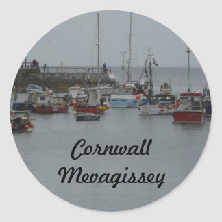 De Haven van Mevagissey Ronde Sticker