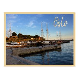 De Haven van Oslo met tekst Briefkaart