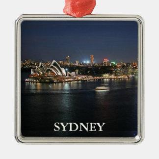 De Haven van Sydney bij CirkelKade Zilverkleurig Vierkant Ornament