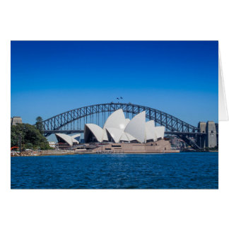 De Haven van Sydney op een mooie ochtend Kaart