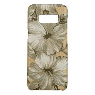 De Hawaiiaanse Hibiscus Faux Houten Taupe van Case-Mate Samsung Galaxy S8 Hoesje