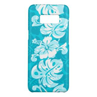 De Hawaiiaanse Hibiscus Turq van de Grens van Case-Mate Samsung Galaxy S8 Hoesje