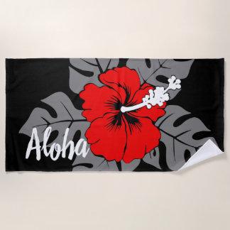 De Hawaiiaanse Hibiscus van het Strand van Banzai Strandlaken