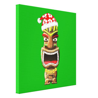 De Hawaiiaanse Kerstman Tiki van Kerstmis Canvas Print