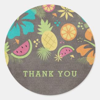 De Hawaiiaanse Kinder Partij Luau dankt u Ronde Stickers