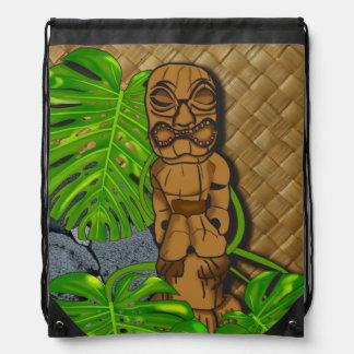 De Hawaiiaanse Rugzak van Tiki Lauhala Drawstring