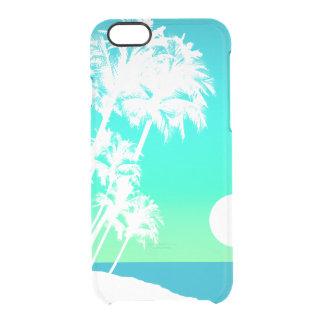 De Hawaiiaanse Schilderachtig Palm van de Doorzichtig iPhone 6/6S Hoesje