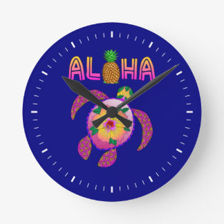 De Hawaiiaanse Schildpad Honu van Aloha Ronde Klok