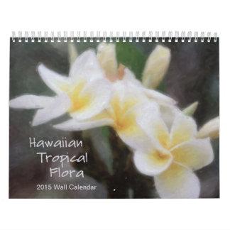 De Hawaiiaanse Tropische Kalender van de Flora