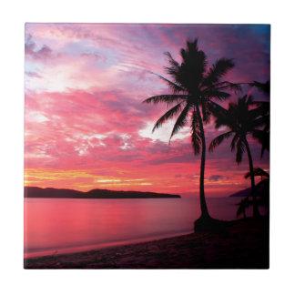 De Hawaiiaanse Zonsondergang van het Eiland Tegeltje
